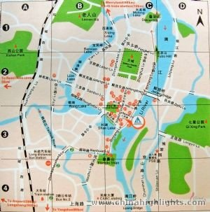 Carte routière de Guilin