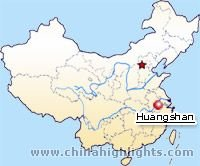 Huangshan Location Map